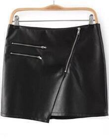 Zipper Bodycon PU Skirt