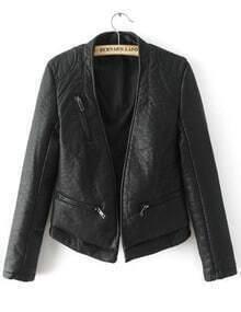 Zipper Pockets Crop Jacket