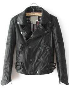 Double Breasted Crop PU Jacket