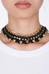 Adorned Golden Chain Necklace