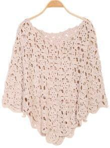 Hollow Knit Cape Sweater