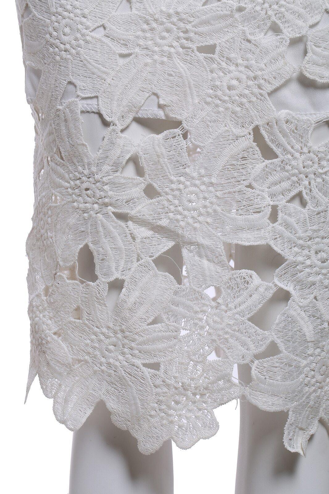 jupe fleur crochet creuse en dentelle blanc french romwe. Black Bedroom Furniture Sets. Home Design Ideas
