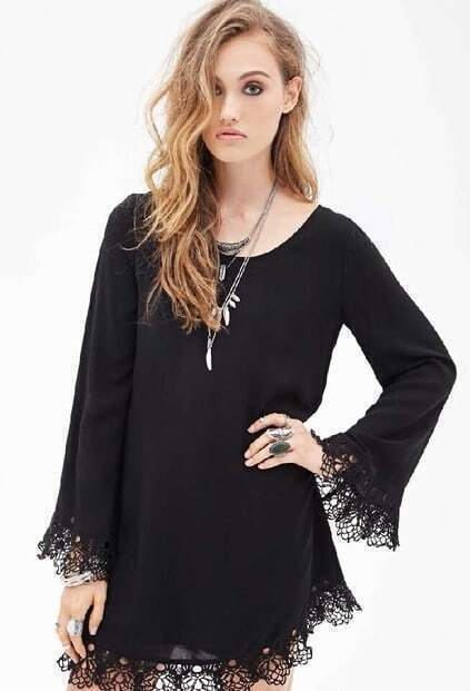 Lace Backless Loose Dress pictures
