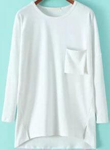 Pockets Loose White T-shirt