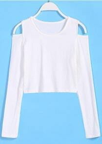 Off-shoulder Crop Knit Sweater
