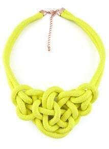 Yellow Twine Elastic Necklace