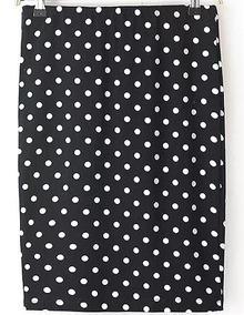 Polka Dot Slim Skirt