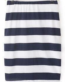 Striped Navy and White Skirt
