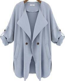 Pockets Blue Trench Coat