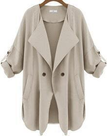 Pockets Apricot Trench Coat
