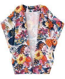 Floral Print Loose Kimono