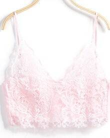 Spaghetti Strap Lace Pink Lingerie
