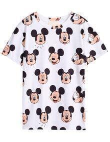 Mickey Print Slim T-Shirt