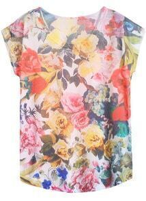 Flowers Casual T-Shirt