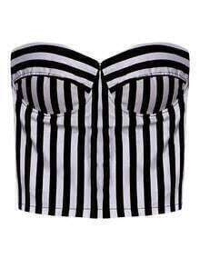 Strapless Vertical Stripe Tank Top