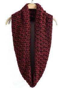 Classic Knit Wine Red Scarf