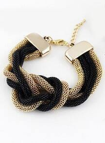 Buy Black Gold Wound Chain Bracelet