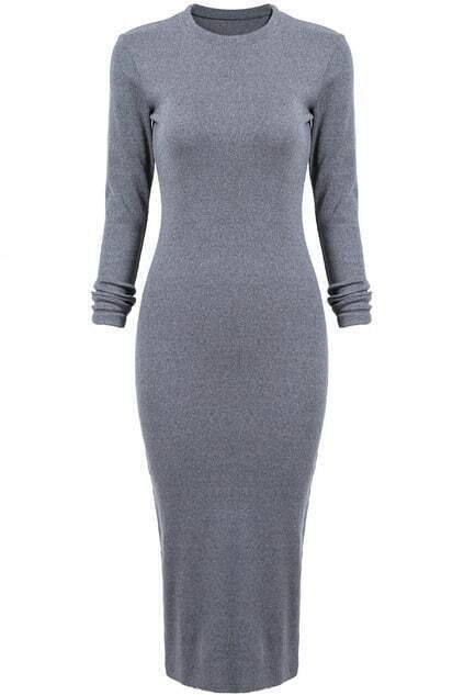 Skinny Split Grey Dress