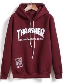 Hooded THRA.SHER Print Sweatshirt
