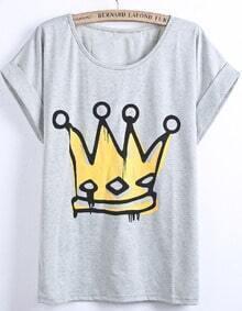 Imperial Crown Print T-Shirt