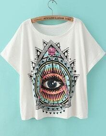 Eye Print Loose T-Shirt