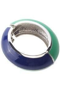 Dual-tone Oval Bracelet