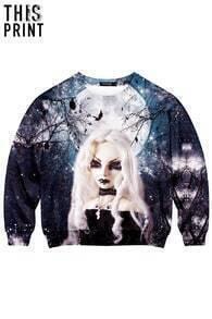 This Is Print Darksome Print Long-sleeved Sweatshirt