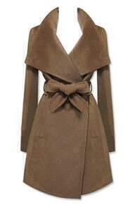 New Style  Lapel Brown Coat
