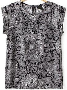 Totem Print Short Sleeve T-Shirt