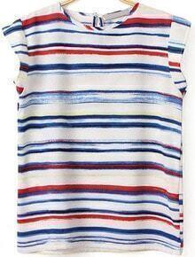Multicolor Striped Slim T-Shirt