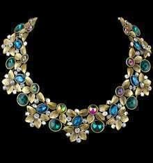 Multicolor Diamond Flower Necklace