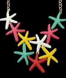 Multicolor Starfish Chain Necklace