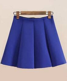 Pleated Flare Royal Blue Skirt