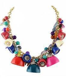 Multicolor Bead Chain Necklace