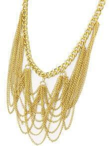 Gold Chain Tassel Necklace