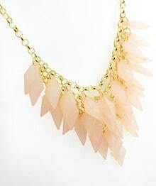 Pink Multilayer Gold Chain Necklace