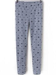 Polka Dot Mickey Print Grey Legging