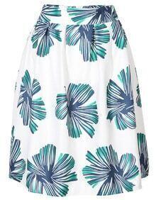 Green Floral Midi Skirt