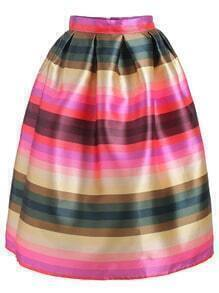 Striped Flare Skirt