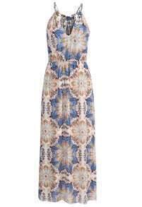 Spaghetti Strap Floral Chiffon Maxi Dress