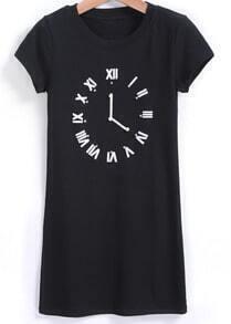With Diamond Clock Print T-shirt