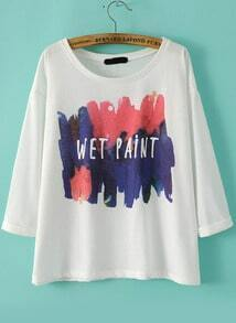 Letter Print Loose T-shirt