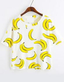 Banana Print Loose T-Shirt