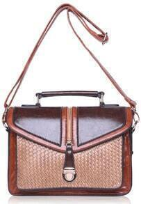 Coffee Weave PU Bag