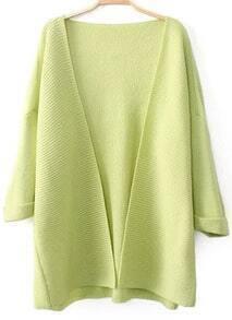 Yellow Long Sleeve Loose Knit Cardigan