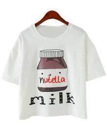 Milk Print White T-shirt