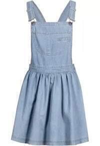 Straps With Pocket Denim Dress