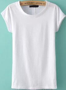 Back Hollow White T-shirt