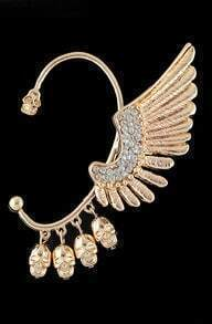 Gold Angel Wing Star Clip Earring