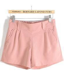 Waves Pockets Pink Shorts